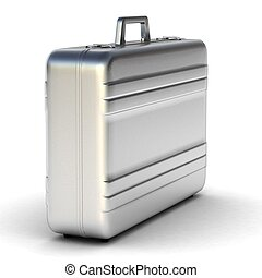 plano de fondo, maletín, aislado, blanco, empresa / negocio