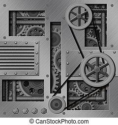 plano de fondo, mecánico