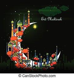 plano de fondo, mubarak, eid
