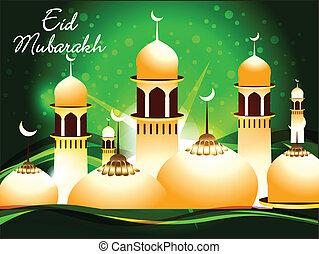 plano de fondo, mubarakh, eid, resumen