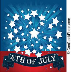 plano de fondo, norteamericano, starburst
