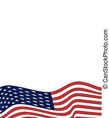 plano de fondo, norteamericano, vector, bandera