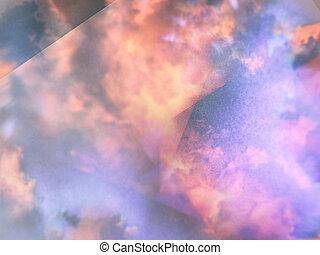 plano de fondo, nubes, cúmulo