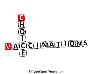 plano de fondo, opción, crucigrama, vacunaciones, blanco, 3d