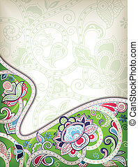 plano de fondo, oriental, floral