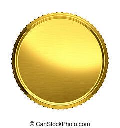 plano de fondo, oro, aislado, ilustración, vector, coin., blanco