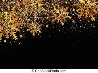 plano de fondo, oro, espacio, navidad, diseño, alegre, año, nuevo, copia, copo de nieve, feliz