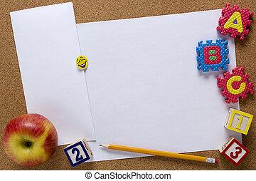 plano de fondo, para, creativo, -, educación