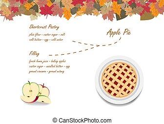 plano de fondo, pastel, cocinar los ingredientes, otoño, ...