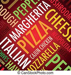plano de fondo, pizza