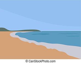 plano de fondo, playa arenosa