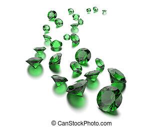 plano de fondo, redondo, gemstone., forma, joyas