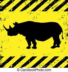 plano de fondo, rinoceronte