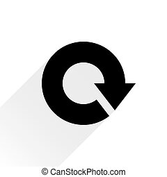 plano de fondo, señal, reload, flecha negra, blanco, icono
