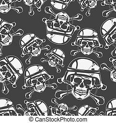 plano de fondo, seamless, emblema, un, cráneo