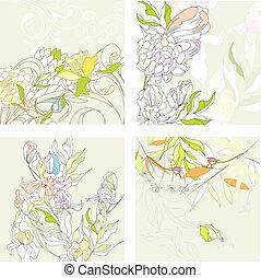 plano de fondo, set1, floral