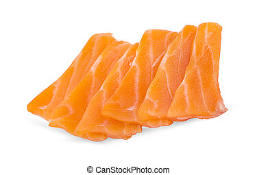 plano de fondo, slided, sashimi, salmón, crudo, blanco