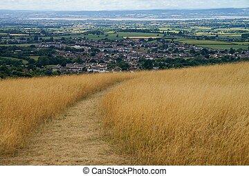 plano de fondo, stroud, cotswold, manera, paisaje rural