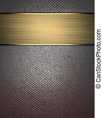 plano de fondo, textura, metal, oro, letrero nombre