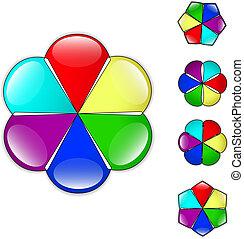 Plano de fondo,  vector, flor, colorido