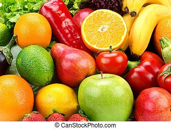plano de fondo, vegetales, maduro, brillante, fruits