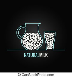 plano de fondo, vidrio, diseño, botella, línea, leche