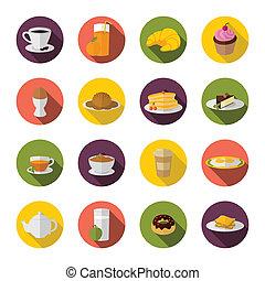 plano, desayuno, icono