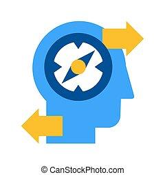 plano, descubrimiento, creativo, solución, icono, aislado,...