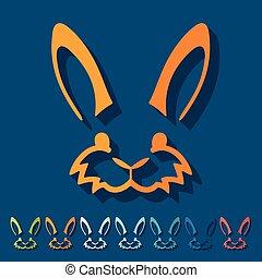 plano, design:, conejo pascua