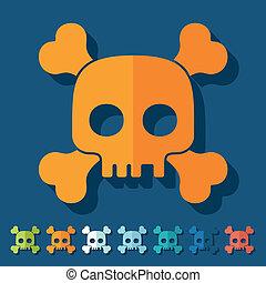 plano, design:, cráneo