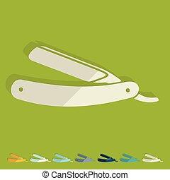 plano, design:, maquinilla de afeitar