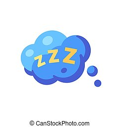 plano, discurso, zzz., sueño, burbuja, icono