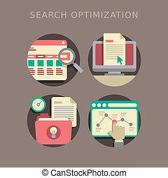 plano, diseño, de, búsqueda, optimization