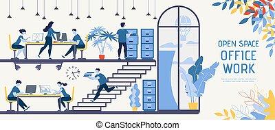plano, empresa / negocio, compañía, vector, innovador, ...