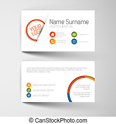 plano, empresa / negocio, moderno, usuario, plantilla, interfaz, tarjeta