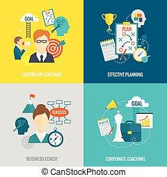 plano, entrenamiento, empresa / negocio