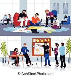 plano, equipo, compositions, personas trabajo