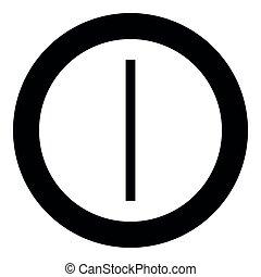 plano, estilo, color, símbolo, círculo, hielo, helada, vector, runa, ilustración, negro, isa, imagen, redondo, icono
