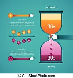plano, estilo, vector, barra, timeline, resumen, diagrama,...