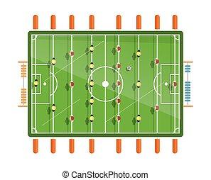 plano, fútbol, aislado, ilustración, vector, diseño, plano ...