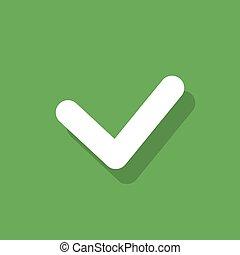 plano, garrapata, botón, lista, marca, vector, diseño,...
