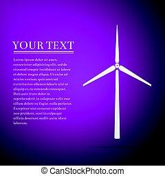 plano, generador, púrpura, ilustración, fondo., vector, viento, icono