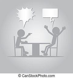 plano, hombre, enojado, persona, señalar con el dedo...