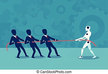 plano, humano, diseño, robot, contra