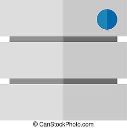 plano, icono, -, base de datos