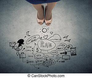 plano, imagem, conceito, negócio