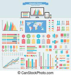 plano, infographics, elementos