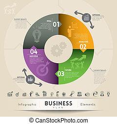 plano negócio, conceito, gráfico, elemento