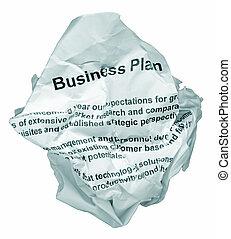 plano, negócio, rejeite