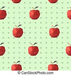 plano, patrón, moderno,  seamless, manzanas,  origami